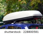 car roof box and rack system | Shutterstock . vector #228800581