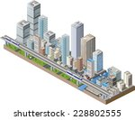Vector Isometric City Center O...