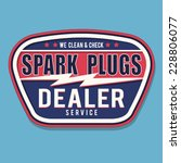 service spark plugs typography  ... | Shutterstock .eps vector #228806077