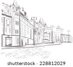 series of street views in the... | Shutterstock .eps vector #228812029