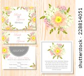 wedding invitation cards with... | Shutterstock .eps vector #228814051