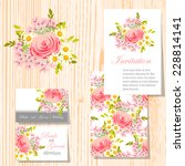 wedding invitation cards with... | Shutterstock .eps vector #228814141