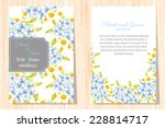 wedding invitation cards with... | Shutterstock .eps vector #228814717