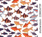 seamless pattern fishes... | Shutterstock .eps vector #228816739