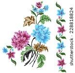 vector batik. colorful... | Shutterstock .eps vector #228818824