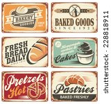 collection of vintage vector... | Shutterstock .eps vector #228818911