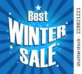 vector of winter sale poster | Shutterstock .eps vector #228821221