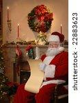 Santa Sitting Near The...