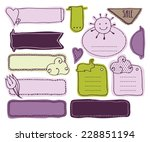 set of doodles labels. use the... | Shutterstock .eps vector #228851194