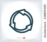 circular arrows  icon  vector...
