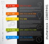 vector infographic timeline... | Shutterstock .eps vector #228859441