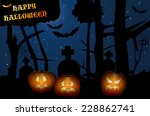 creepy forest   halloween night ... | Shutterstock .eps vector #228862741