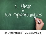 one year equals 365...   Shutterstock . vector #228869695