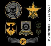special unit military emblem... | Shutterstock .eps vector #228870277