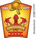 firefighter badge | Shutterstock .eps vector #228872707