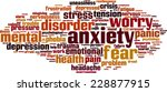 anxiety word cloud concept.... | Shutterstock .eps vector #228877915