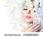 Winter Beauty Woman. Beautiful...