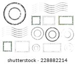 set of postal stamps and... | Shutterstock .eps vector #228882214