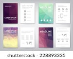 set of modern abstract brochure ... | Shutterstock .eps vector #228893335