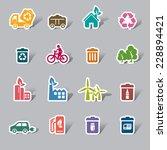 environmental protection color... | Shutterstock .eps vector #228894421