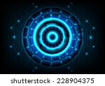 circle line effect light on... | Shutterstock .eps vector #228904375