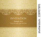 baroque invitation card in old... | Shutterstock .eps vector #228907891