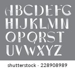 the new font from vector... | Shutterstock .eps vector #228908989
