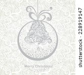 vintage greeting christmas card ... | Shutterstock .eps vector #228919147