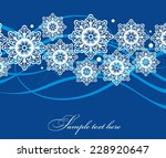 merry christmas card with... | Shutterstock .eps vector #228920647