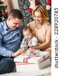 young family for the new year | Shutterstock . vector #228920785