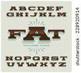 Wide Vintage Brown Alphabet Set