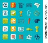 football  soccer infographic | Shutterstock . vector #228923404