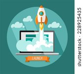 start up. flat design modern... | Shutterstock .eps vector #228925435