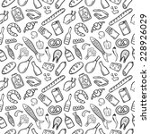 food patten black and white | Shutterstock .eps vector #228926029