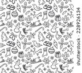 Christmas Paper Pattern Black...