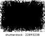 ink and paint splat border in... | Shutterstock . vector #22893238