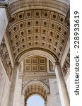 triumphal arch viewed from... | Shutterstock . vector #228933619
