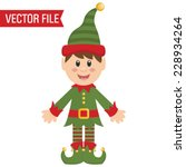 vector male elf | Shutterstock .eps vector #228934264