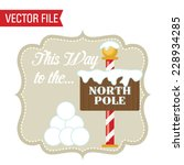 christmas label frame | Shutterstock .eps vector #228934285