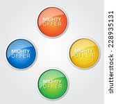 mighty offer colorful vector... | Shutterstock .eps vector #228935131