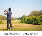 businessman playing golf on... | Shutterstock . vector #228942007