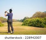 businessman playing golf on... | Shutterstock . vector #228942007