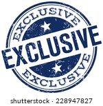 exclusive stamp | Shutterstock .eps vector #228947827