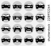vector icons. cars.  | Shutterstock .eps vector #228952264