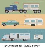 car with trailer. car trailer...   Shutterstock .eps vector #228954994