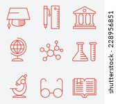 education icons  thin line... | Shutterstock .eps vector #228956851