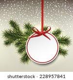 christmas paper card. winter...   Shutterstock .eps vector #228957841