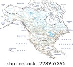 high detailed north america... | Shutterstock .eps vector #228959395