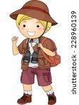illustration featuring a boy... | Shutterstock .eps vector #228960139