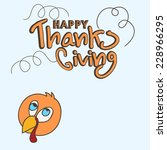 happy thanks giving day... | Shutterstock .eps vector #228966295